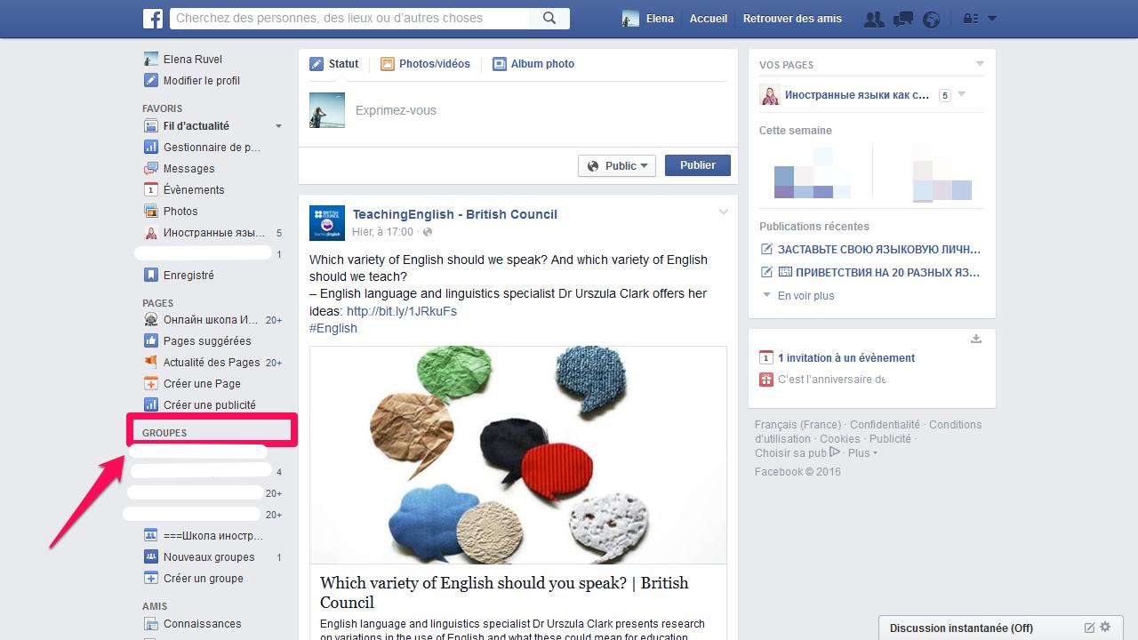 Как учить язык с помощью facebook