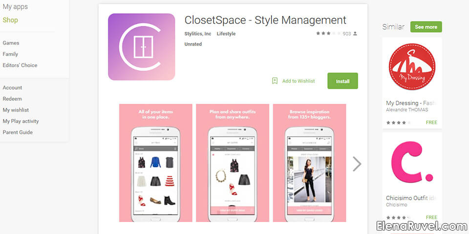 closet space application