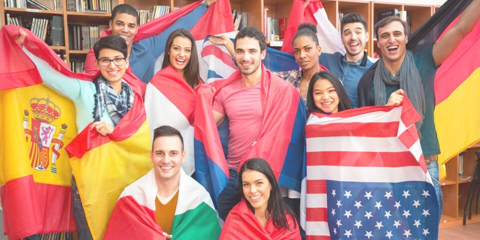 изучение языка, флаг, студент, иностранный язык