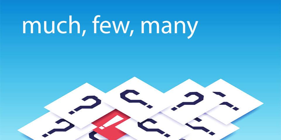 тест по английским словам much, many, few