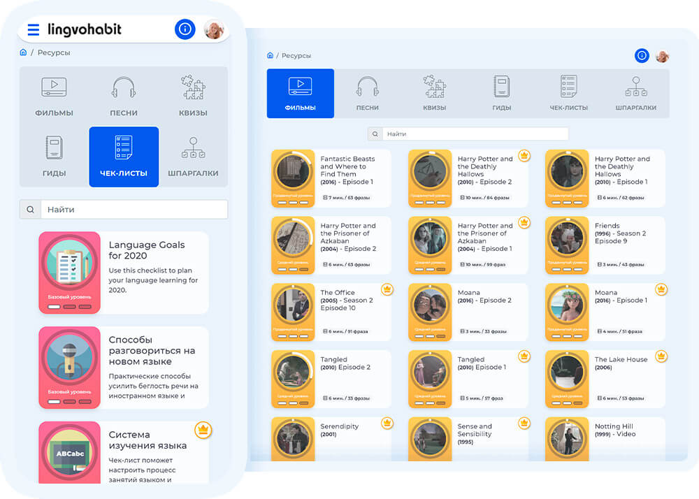 lingvohabit, платформа по английскому языку