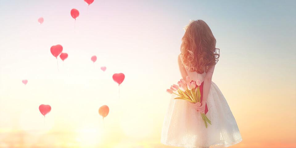 Девочка, сердце, праздник